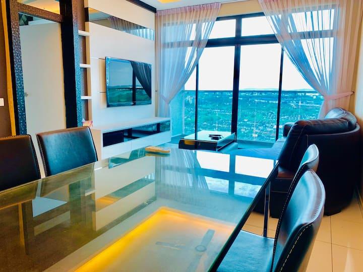 Sky loft Bukit Indah Aeonmall WiFi 2bedrooms for6