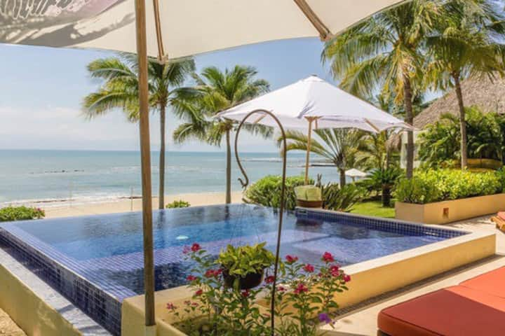Stunning Ground Level Beachfront with Private Pool
