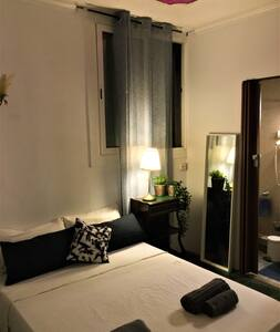 A Double room with private bathroom in the center