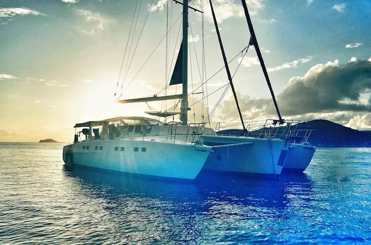 Vacation on a 63' Trimaran in the Caribbean Sea