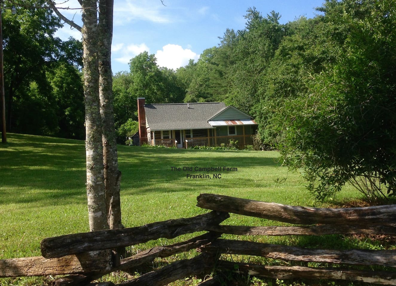 The Old Campbell Farm is located in the beautiful mountains of western NC.
