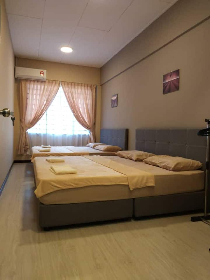 Sabah Putatan Cozy Stay (Room B) 沙巴近机场/免费上网/4人