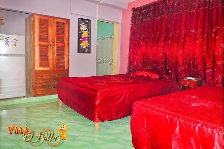 Villa El Pollo cerca cayo jutias(Habitación 1)