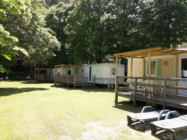 Camping Saint Pierreville mobilhome