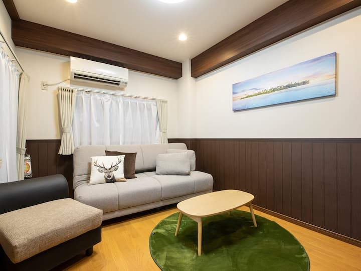 [for small family]Central Kobe & 30min to Osaka