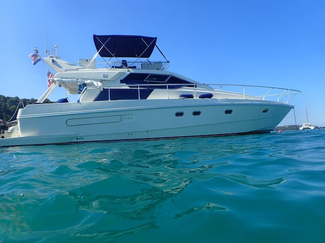 Ferretti Fly 48 feet 12 people day trip happy hour - Umag - Bateau