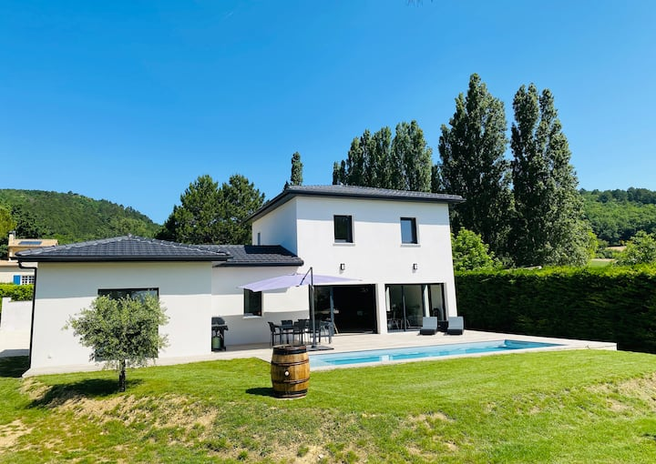 Villa contemporaine avec piscine  - 180m2 - 6/8p