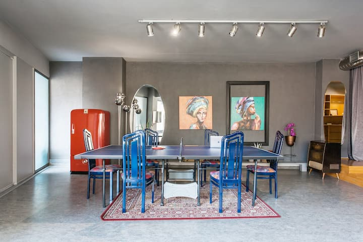Artists' favorite Spacious Loft near Acropolis!!