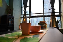 【无恙】.陆   森林跃层loft、100寸投影、可住4人、宽窄巷子、天府广场、春熙路