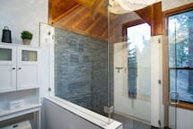 Master Suite bathroom - extra large shower with multiple heads for the true spa experience.
