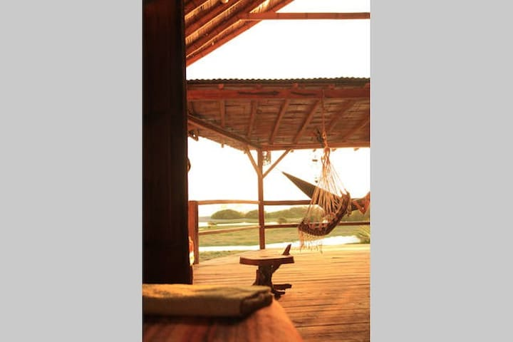Ocean-view from your bed up-stairs at CasAyampe - Ayampe - House