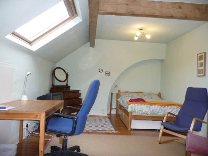 Private Large Attic Bedroom with On Street Parking