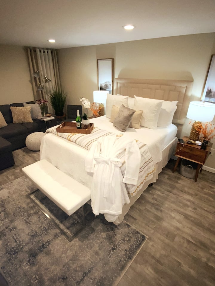 Upscale suite with jacuzzi- Not your average stay!