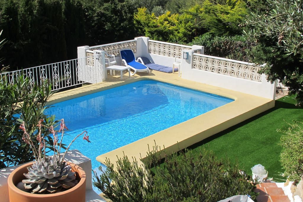 Pool seen from the terrace