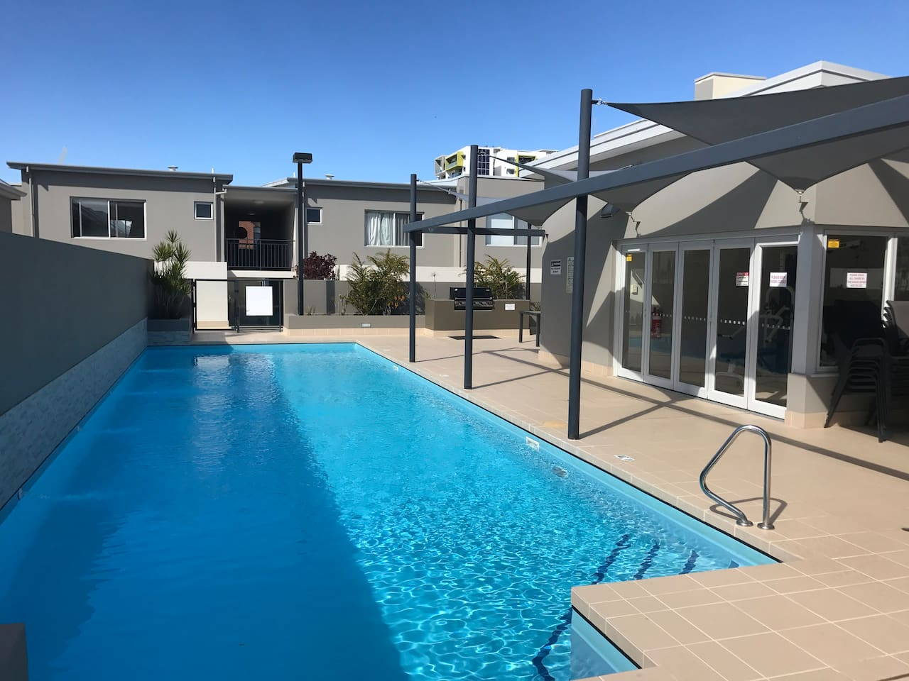 easy access to sparkling pool