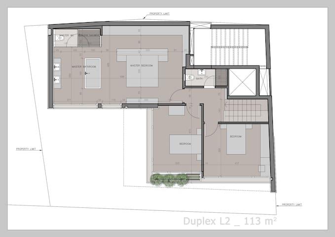 Duplex upper level - Bedrooms