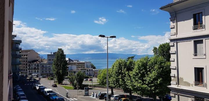 Evian-les-Bains - appartement - 1 chambre - vu lac