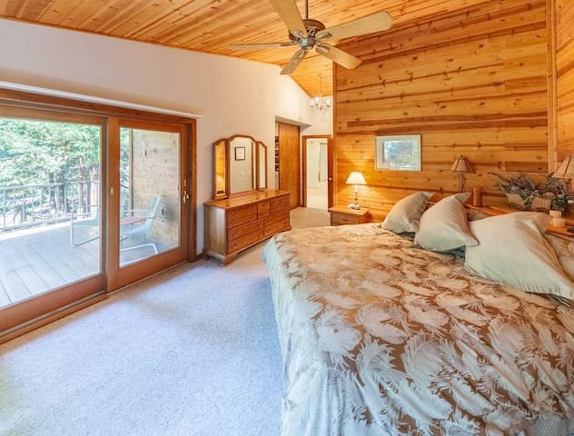 """Guests' private entrance to Master Suite with King size """"Sleep Number"""" bed for your individual comfort control."""