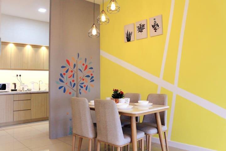 New Le Pavilion Puchong/FullKitchen/6pax/ 🏡 舒适短租屋