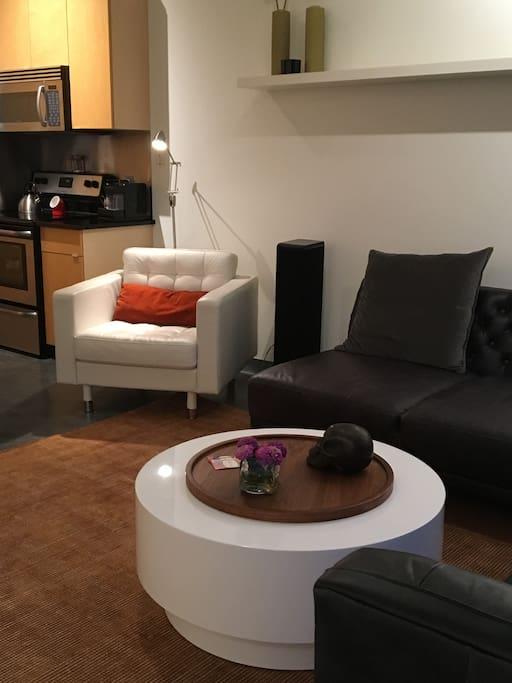 Open, modern living space