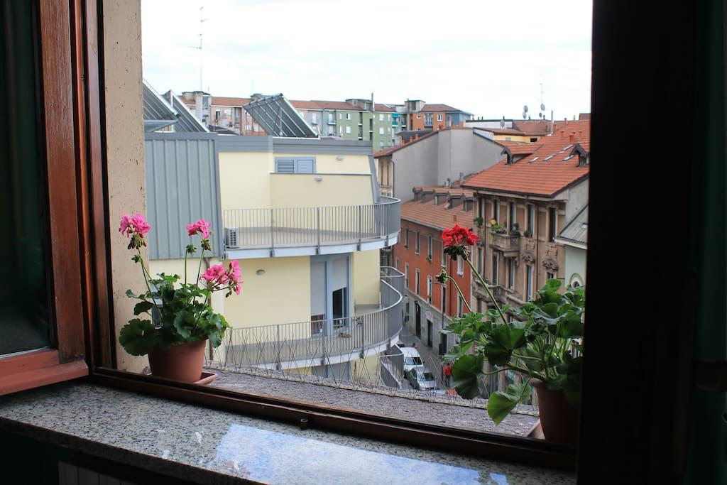Vista città dalla camera