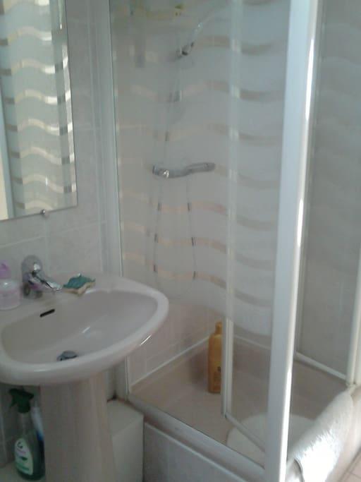 Salle d eau avec douche