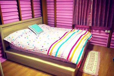 粉紅浪漫套房,工業風,雙人套房 - 北門區
