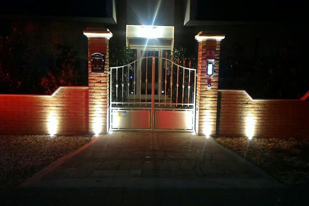 L'ingresso di sera/The entrance by night