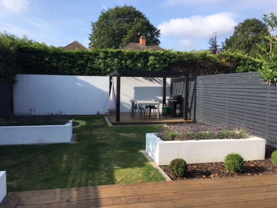 Private Garden and BBQ Area