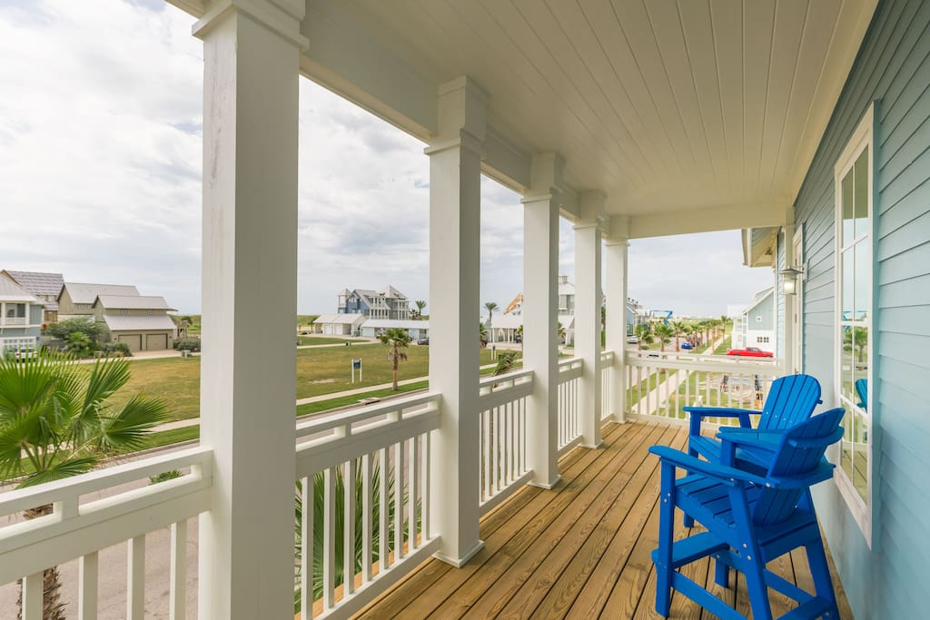 Bistro seating on the breezy deck