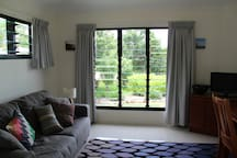 View onto the well manicured gardens. Completely private