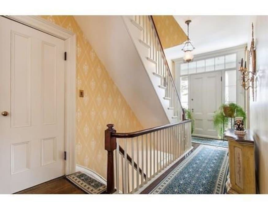 The historic home is very well maintained with modern amenities.