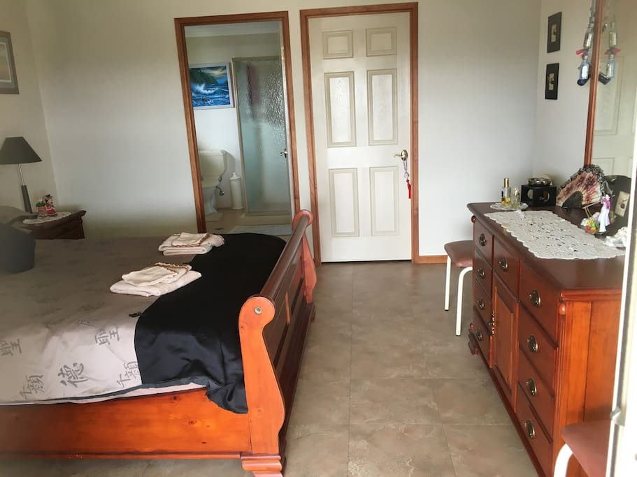 The main bedroom and ensuite