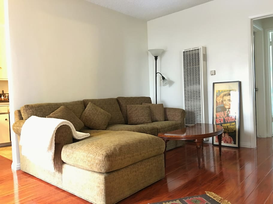 Living Room with very comfortable sectional sofa.