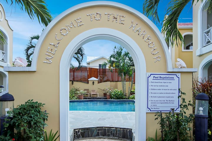 Entrance to communal pool