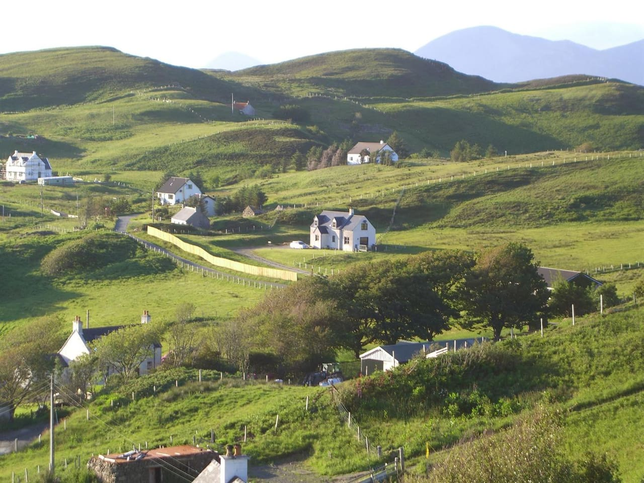 'The Willows' as pictured from the road above Tarskavaig village in early summer.