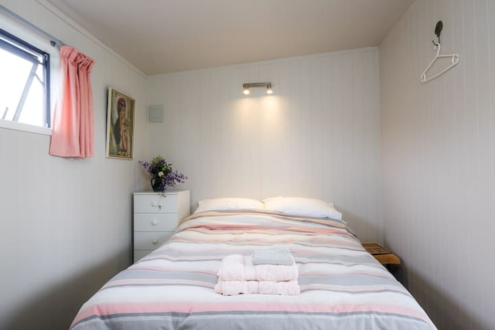 Your room is comfortably furnished, with bed linen and towels provided.