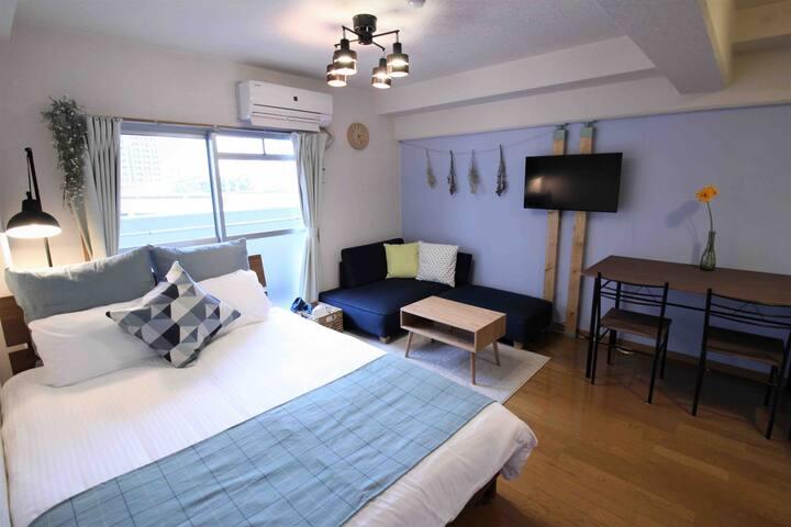 【GoTo35%割】[411] 博多区美野島☆最高の立地☆寝室2部屋