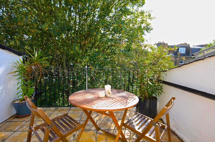Roof terrace in central London