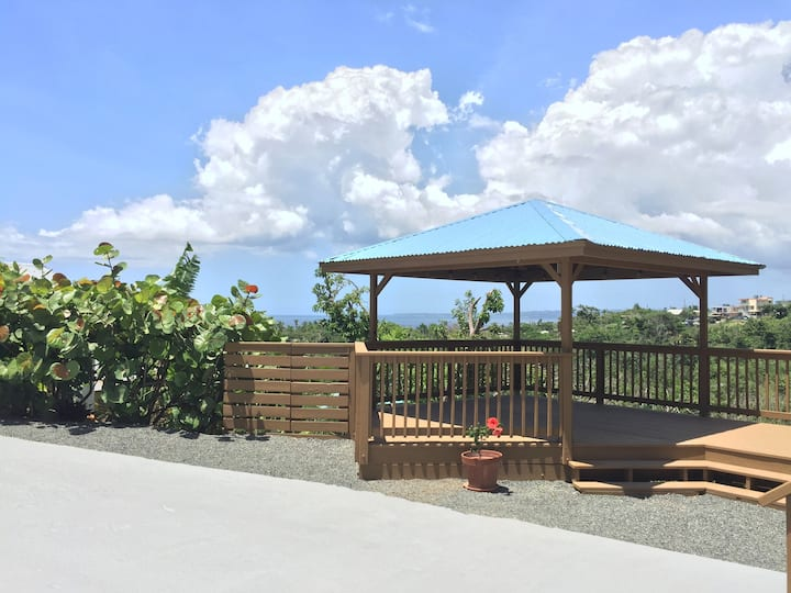 Apartment with deck/gazebo view of PR's NW coast
