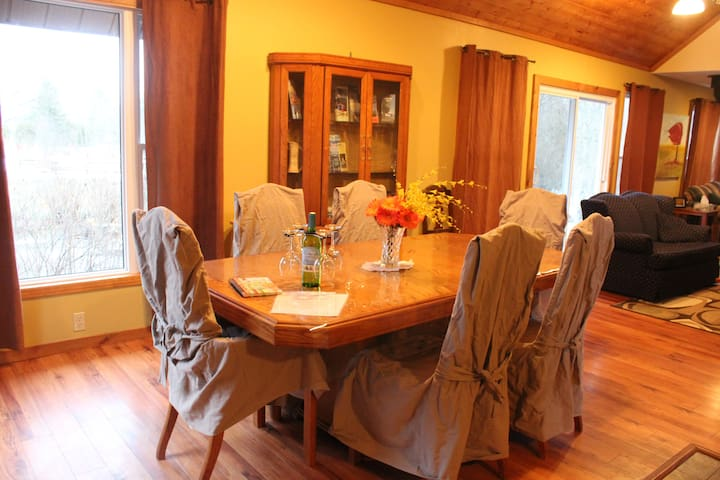 Open concept dining area.