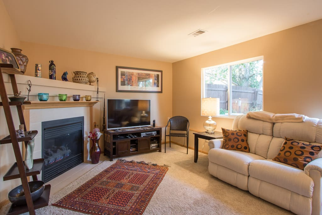 """Family room has gas fireplace, 50"""" TV with DishNetwork satellite service plus Netflix"""