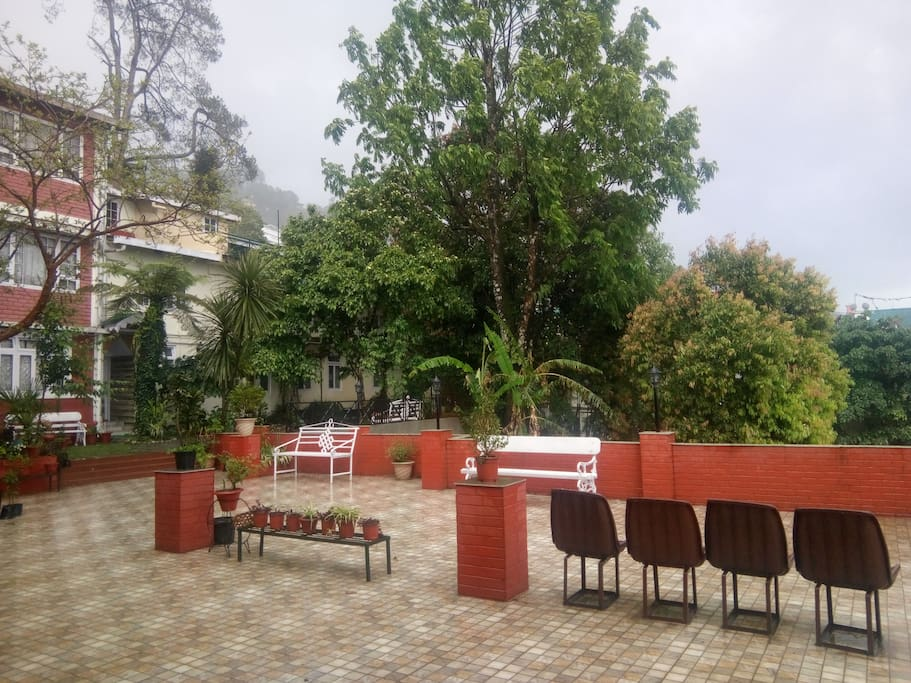 Open terrace area