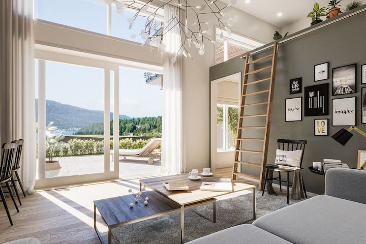 Beautiful seafront apartment near Drammen/Oslo