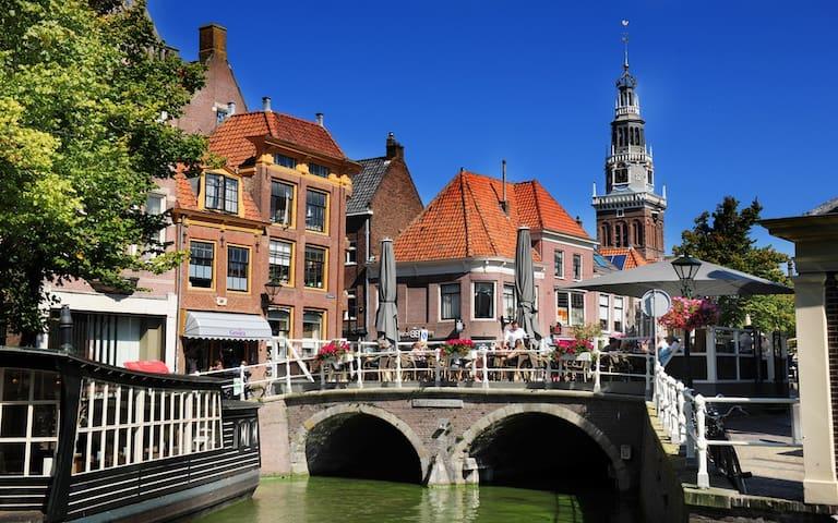 The lovely City center of Alkmaar