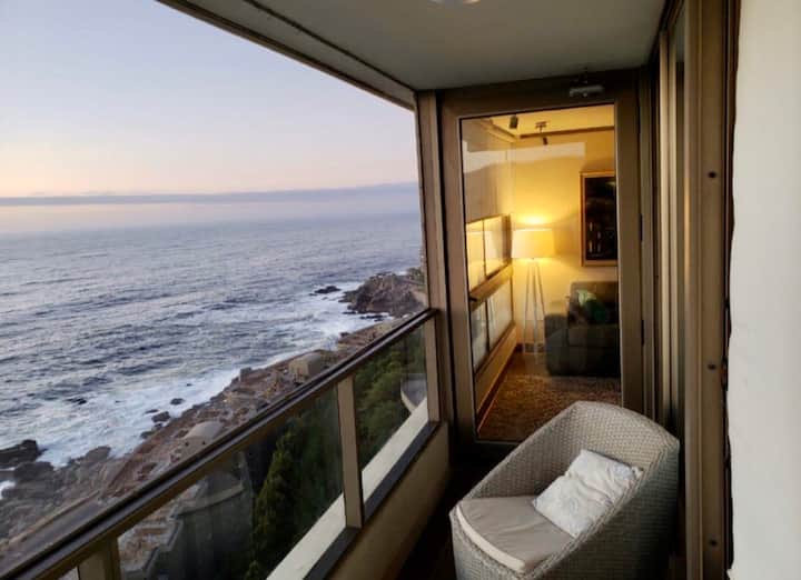 """Preciosa vista al mar """"costa de Montemar"""""""