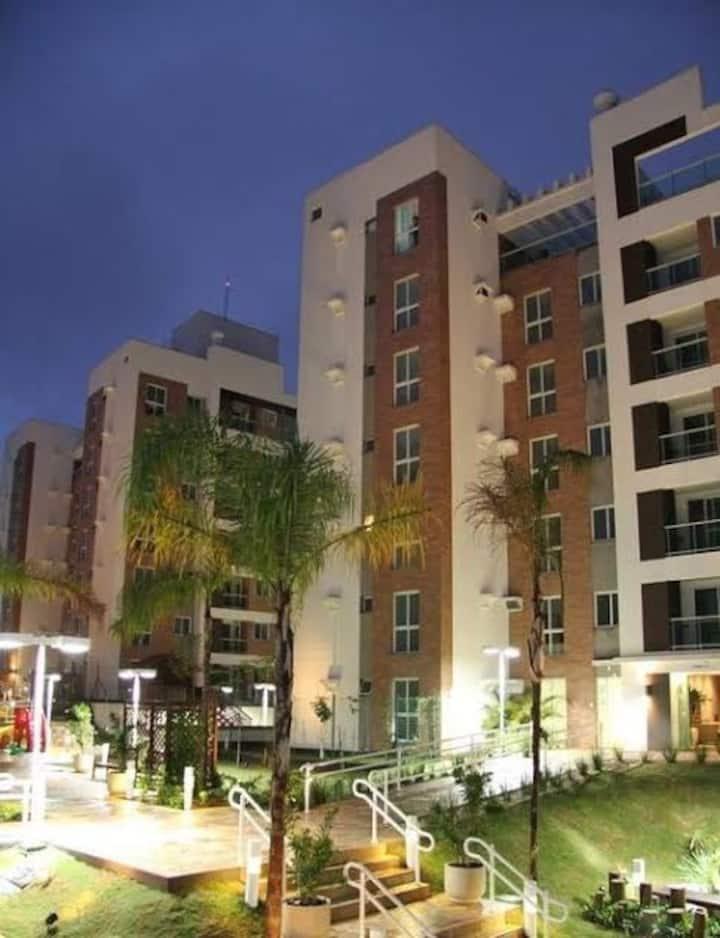 Apartamento Suíte + 2 dormitórios, com piscina