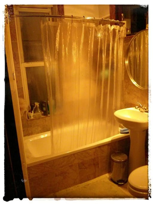 the shared bath upstairs