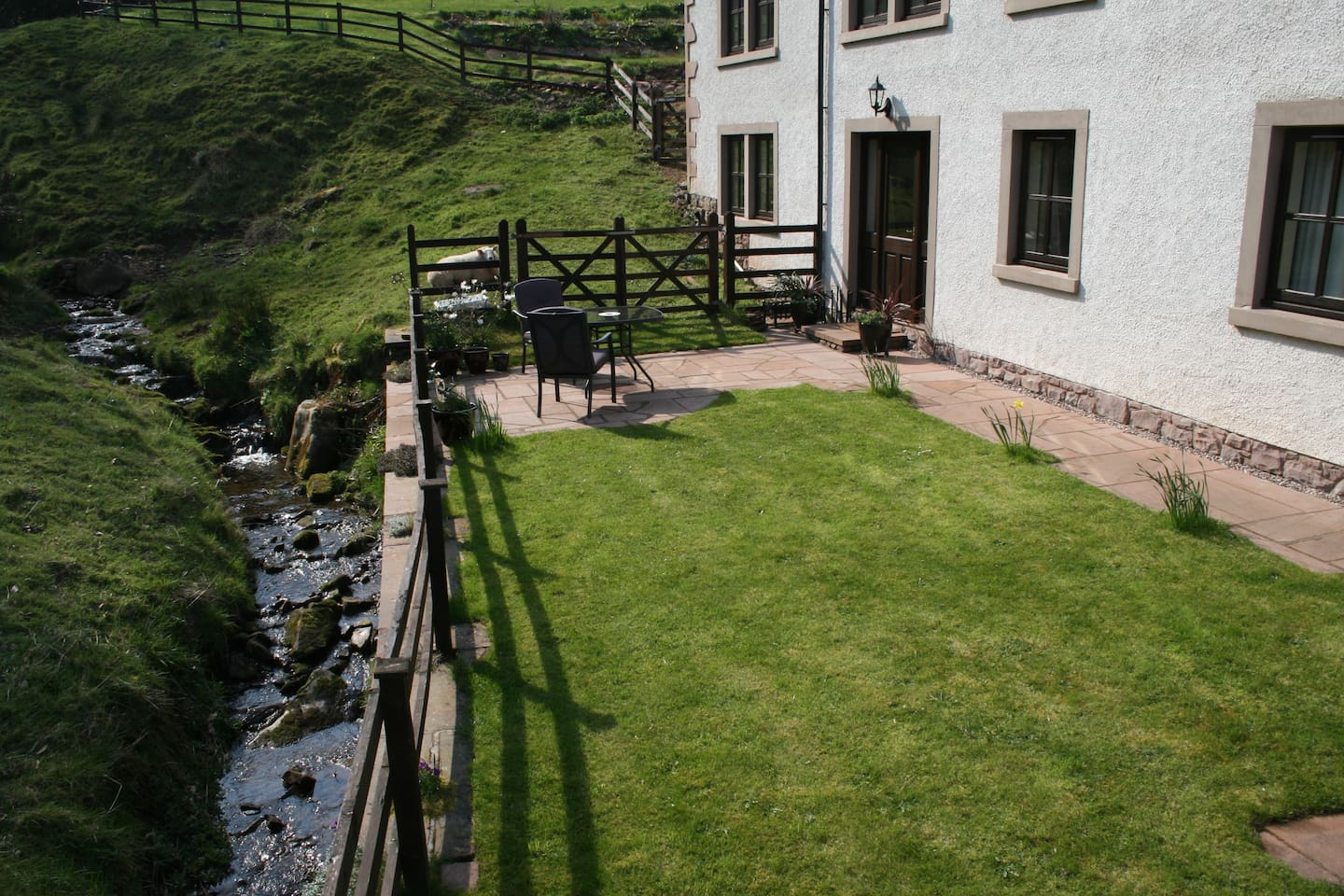 Set at the foot of the  Fells off a quiet country road. Our secluded place is accessed by a Private Entrance. A Unique position overlooking the Waterfall Stream, Field & Gill.    Please see further photos and appreciated reviews  :) No cleaning fees.