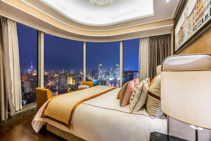 太古里 春熙路 270度高层环幕观景一居室